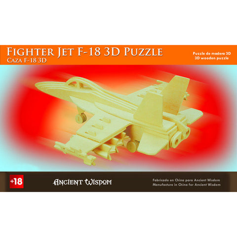 Fighter Jet F-18 - 3D Wooden Puzzle