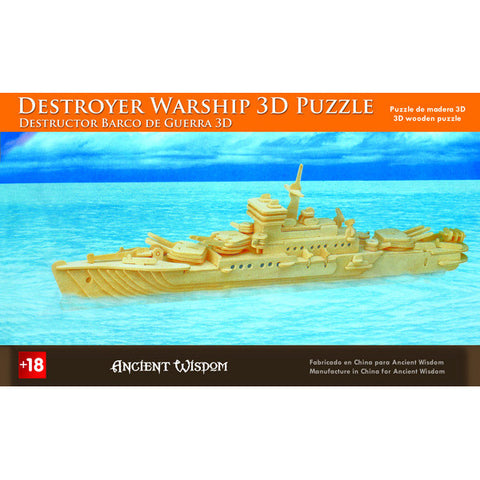 Destroyer Warship - 3D Wooden Puzzle