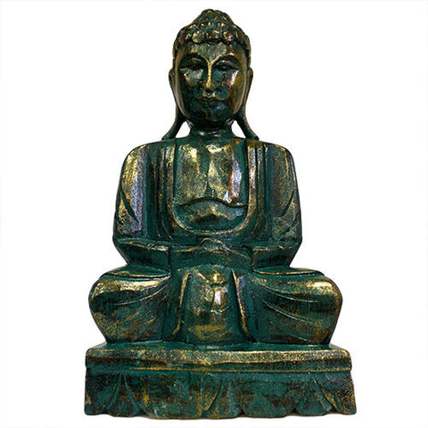 Green Golden Buddha Statue - 40 cm