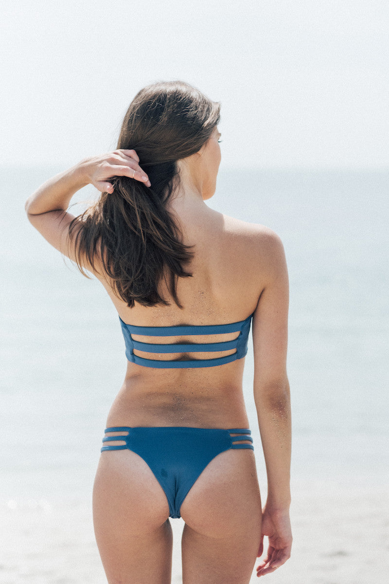 Shade Bikini Top in Top Blue by Tuhkana Swimwear