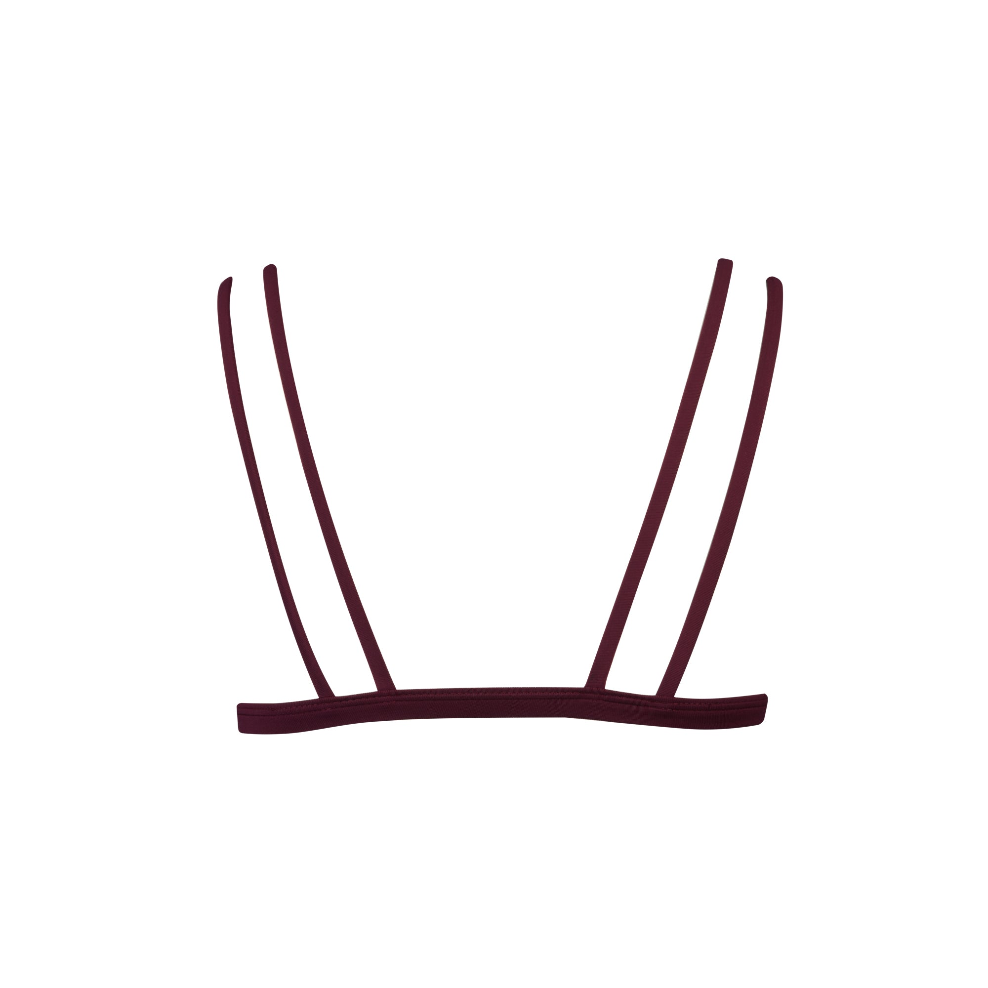 Caravel Bikini Top in Maroon - Tuhkana Swimwear