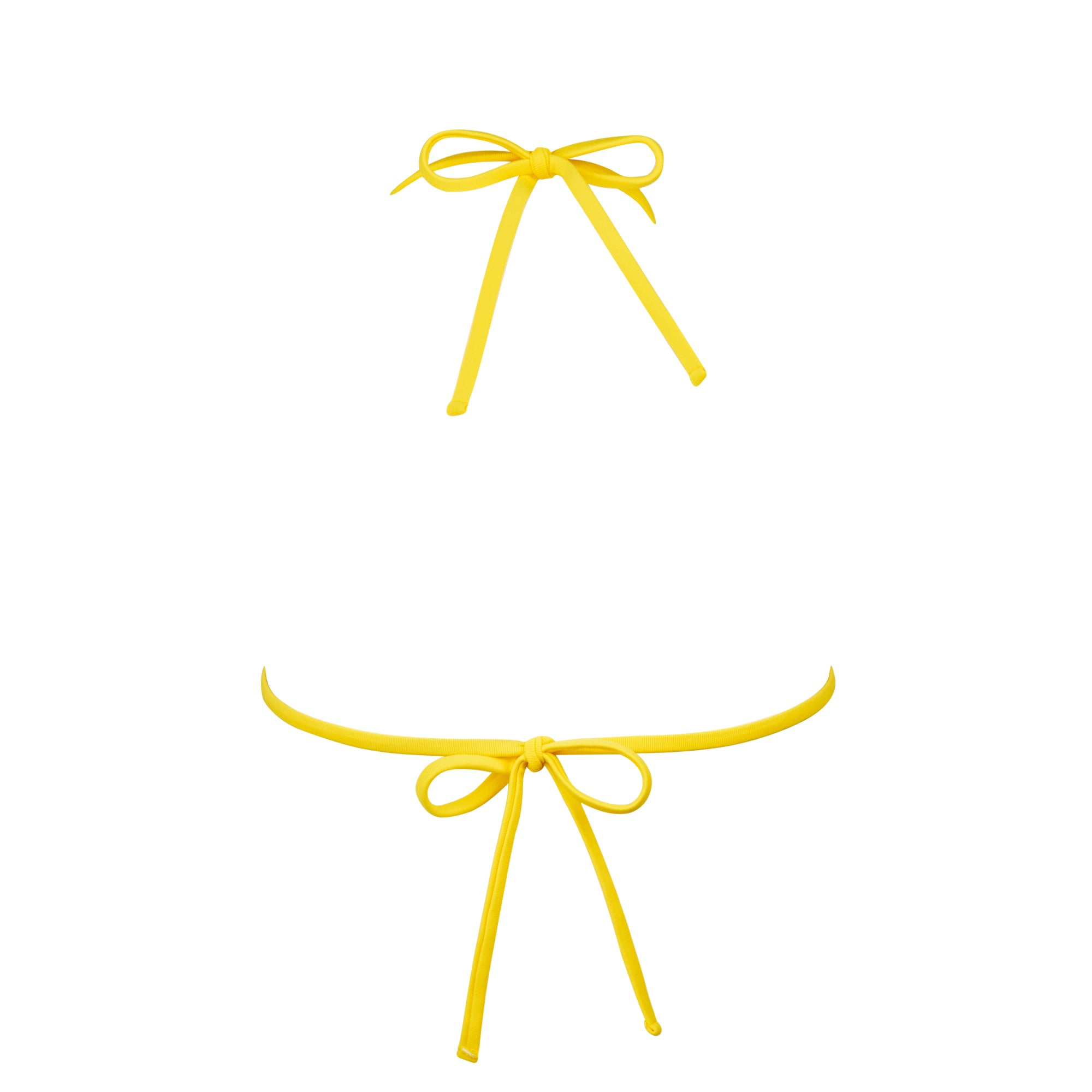 Crisp Bikini Top in Banana - Tuhkana Swimwear
