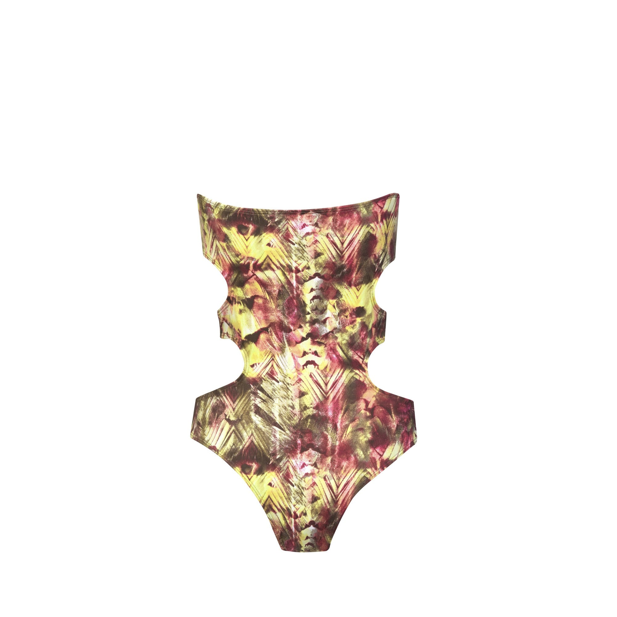 Dunes One Piece Swimsuit in Desert Lizard - Tuhkana