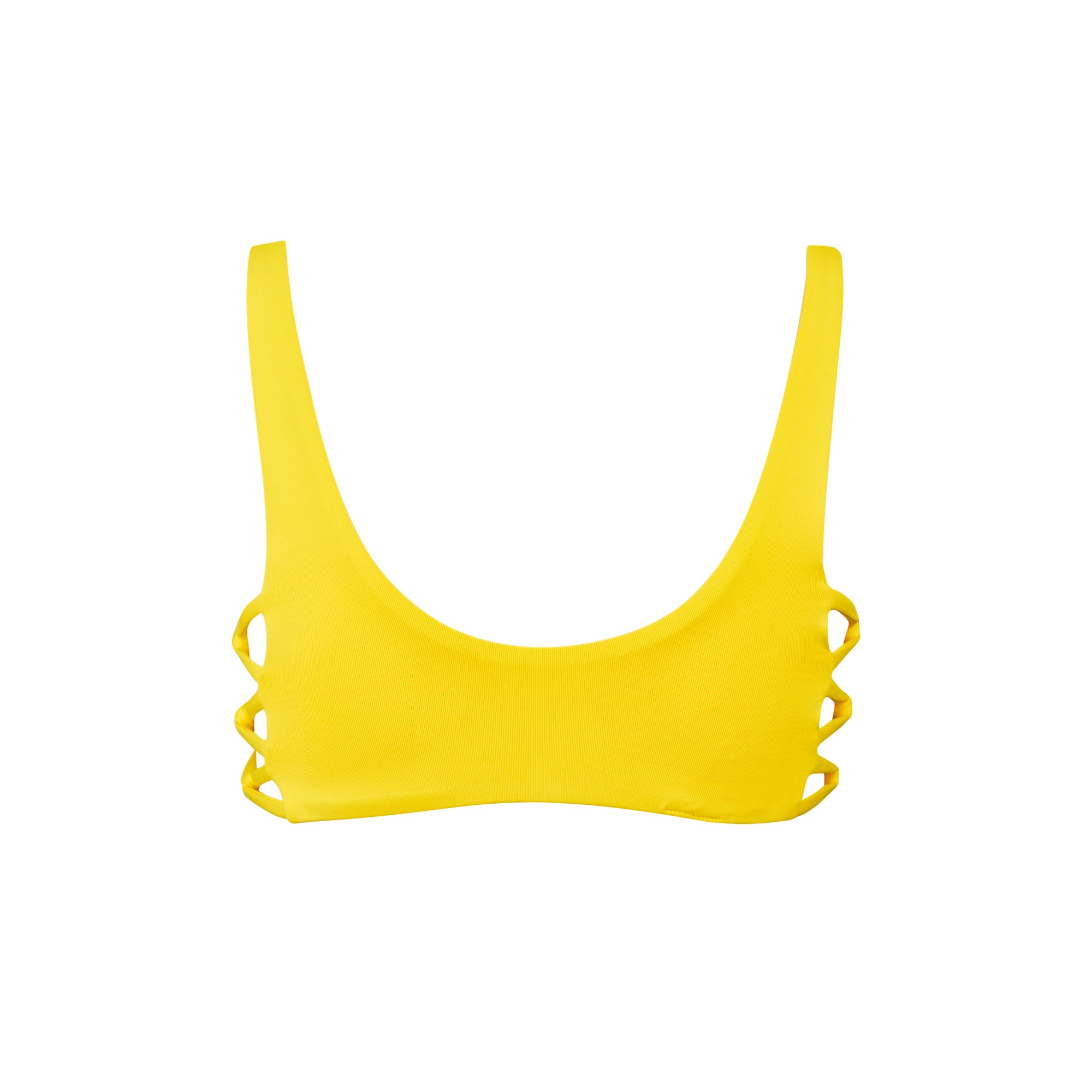 Fizz Bikini Top in Banana - Tuhkana Swimwear