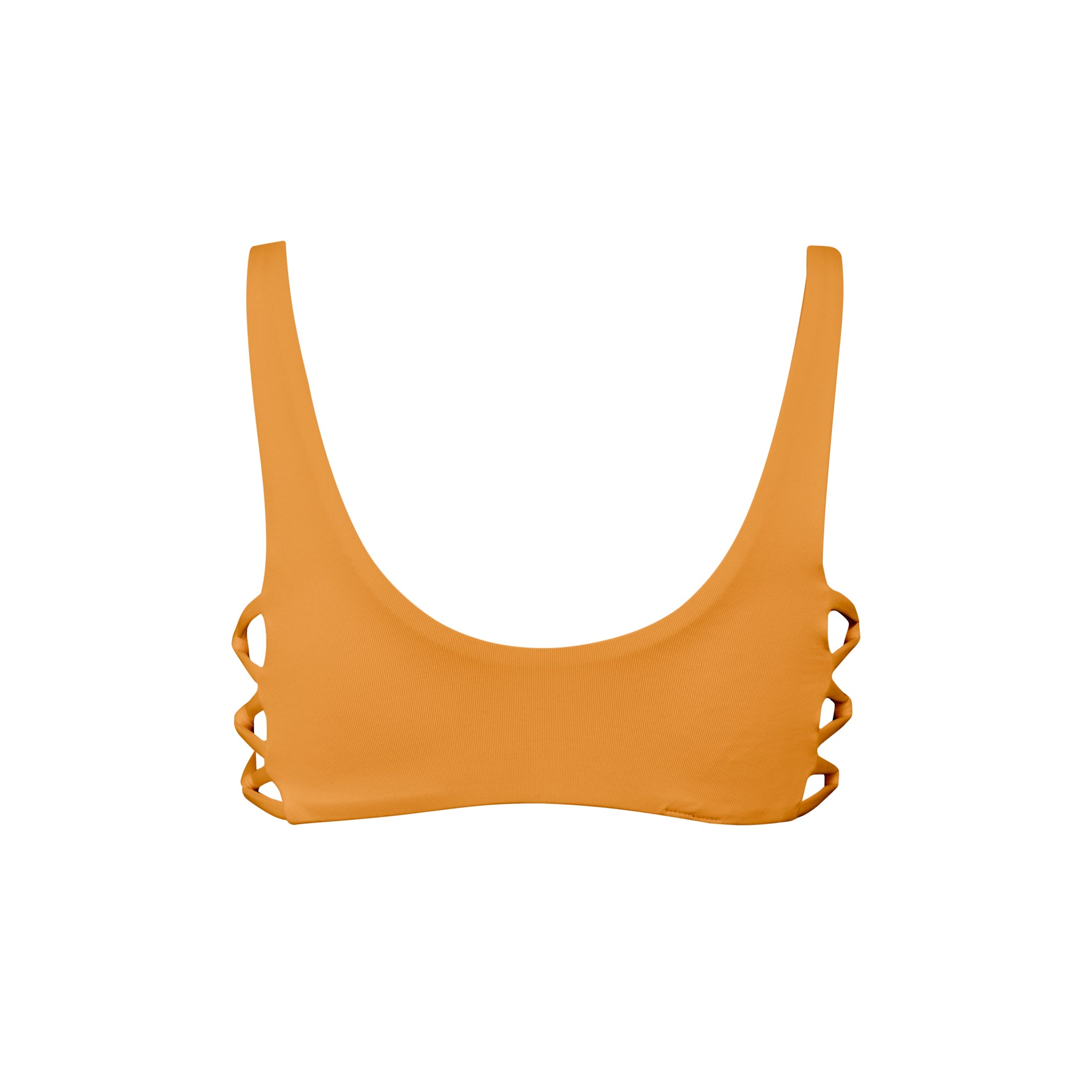 Fizz Bikini Top in Pumpkin by Tuhkana Swimwear