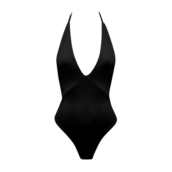 Hills One Piece Swimsuit in Black by Tuhkana Swimwear