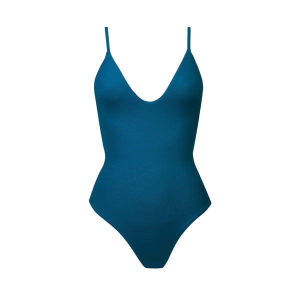 Maze One Piece Swimsuit in Atlantic Blue by Tuhkana Swimwear