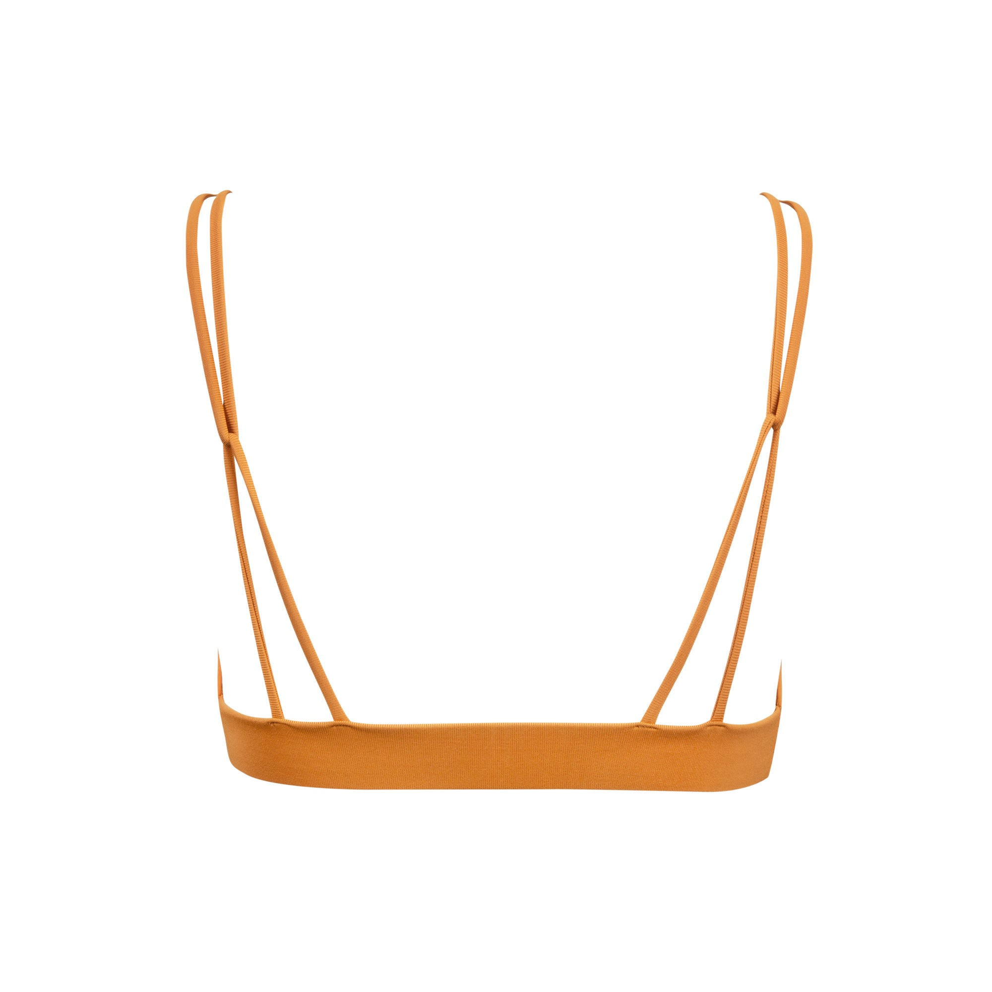 Springs Bikini Top in Pumpkin by Tuhkana Swimwear