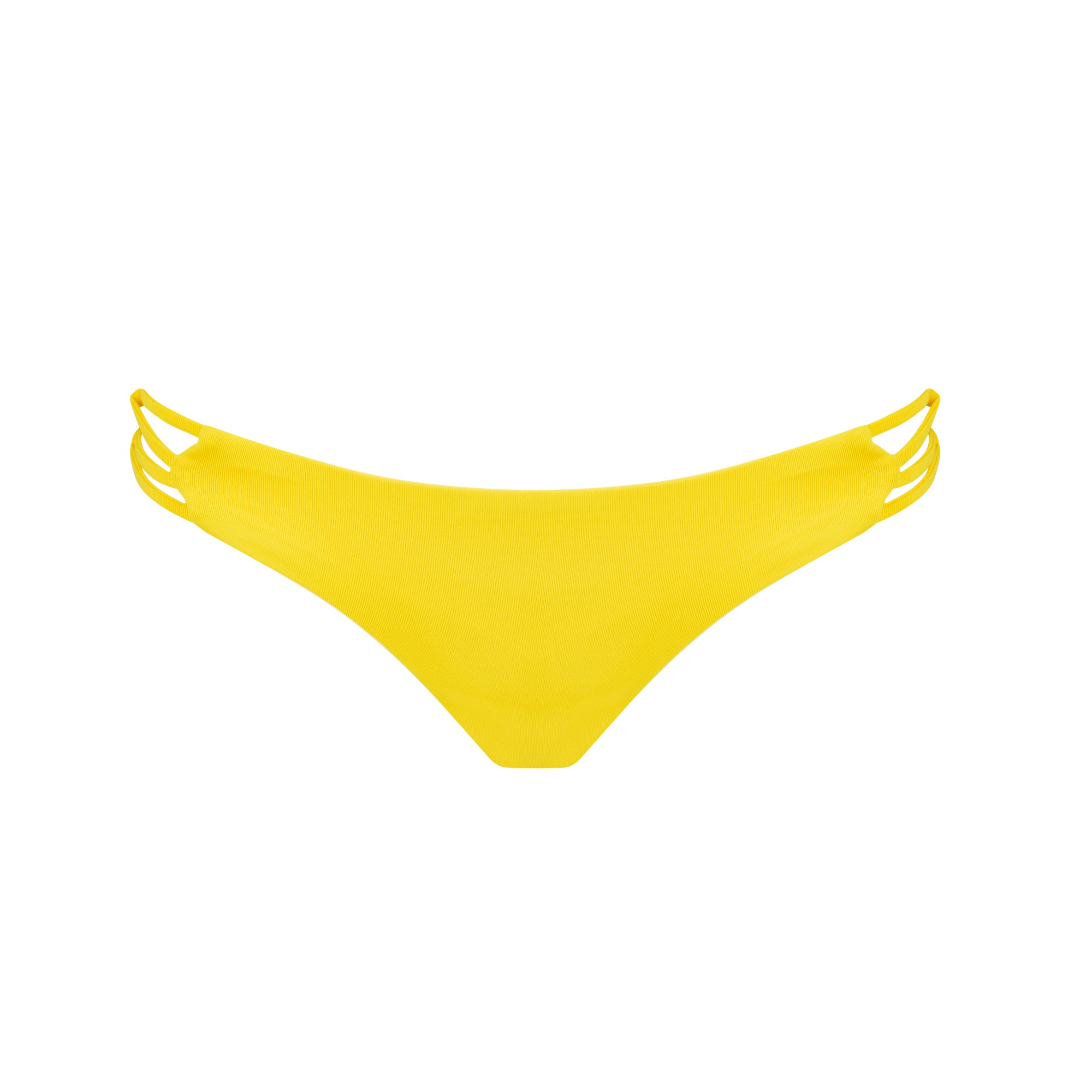 Tangled Bikini Bottom in Banana - Tuhkana Swimwear