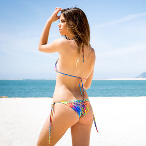 Chill Bikini Top in Tropical Skin by Tuhkana Swimwear
