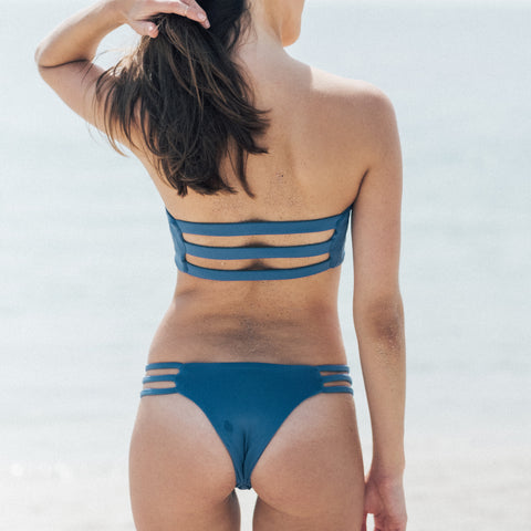 Thrill Bikini Bottom in Top Blue by Tuhkana Swimwear