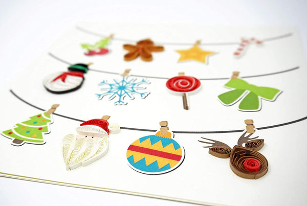 Christmas Icons Quilling Card