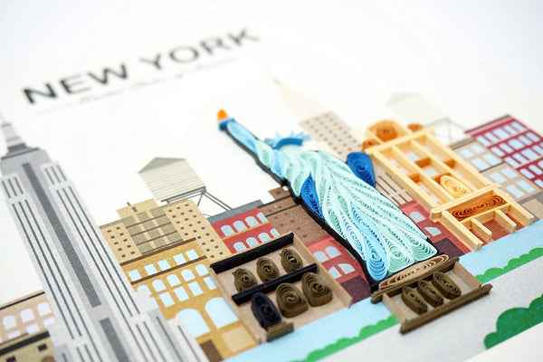 New York City Quilling Card
