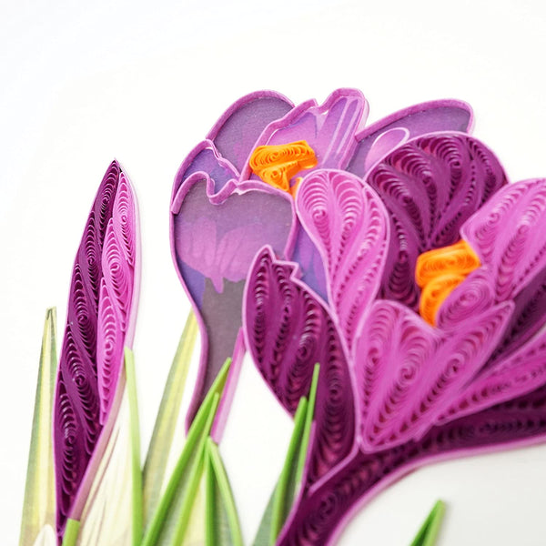 Crocus Flower Quilling Card