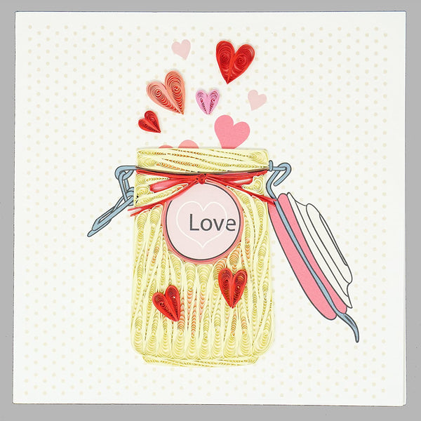 Love Jar Quilling Card