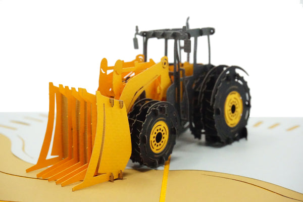 Bulldozer - WOW 3D Pop Up Greeting Card