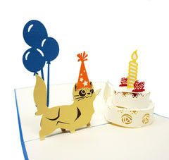 Cat Birthday - WOW 3D Pop Up Greeting Card