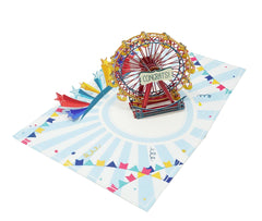 Rainbow Ferris Wheel - WOW 3D Pop Up Greeting Card