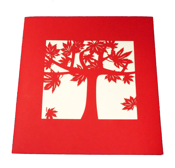 Red Maple Tree - WOW 3D Pop Up Card