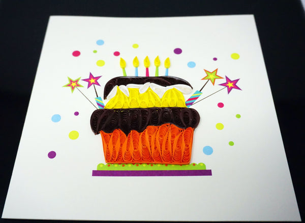 Birthday Cake Quilling Card