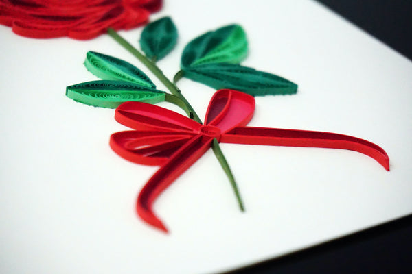 Rose Flower Quilling Card