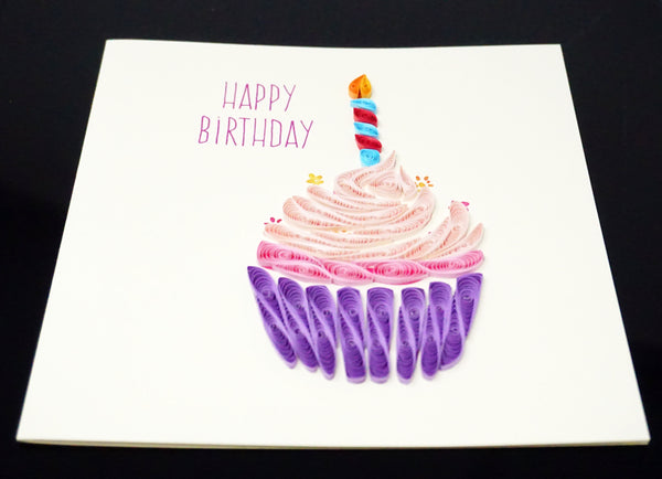 Birthday Cupcake Quilling Card
