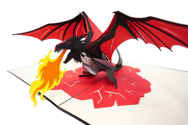 Dragon Fire - WOW 3D Pop Up Card