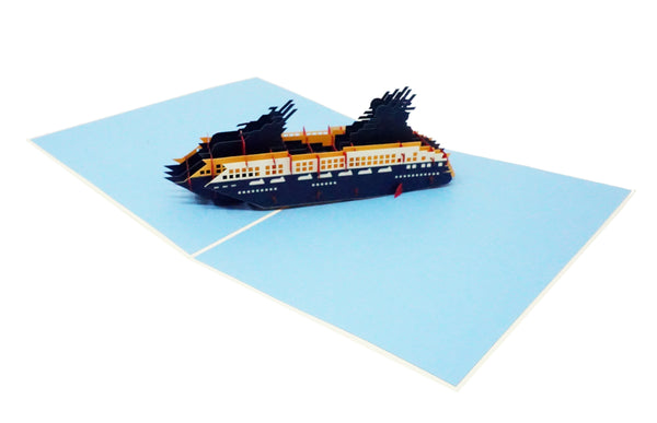Cruise Ship - WOW 3D Pop Up Greeting Card