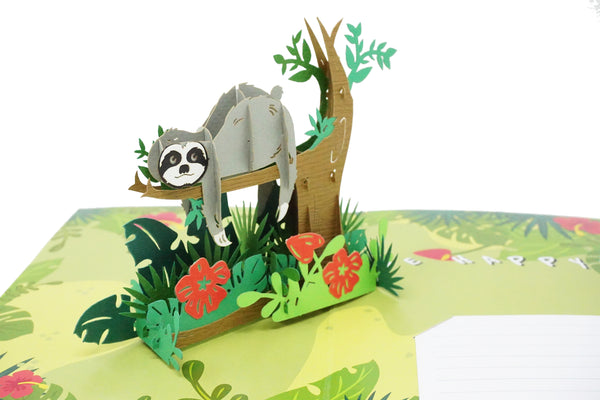 Fun Sloth Don't Hurry - 3D Pop Up Card