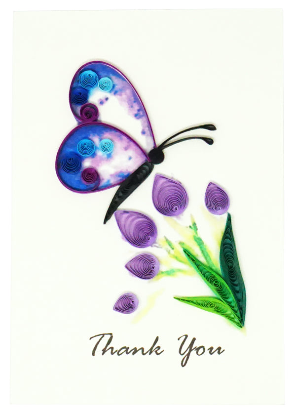 Butterfly & Flower Quilling Card