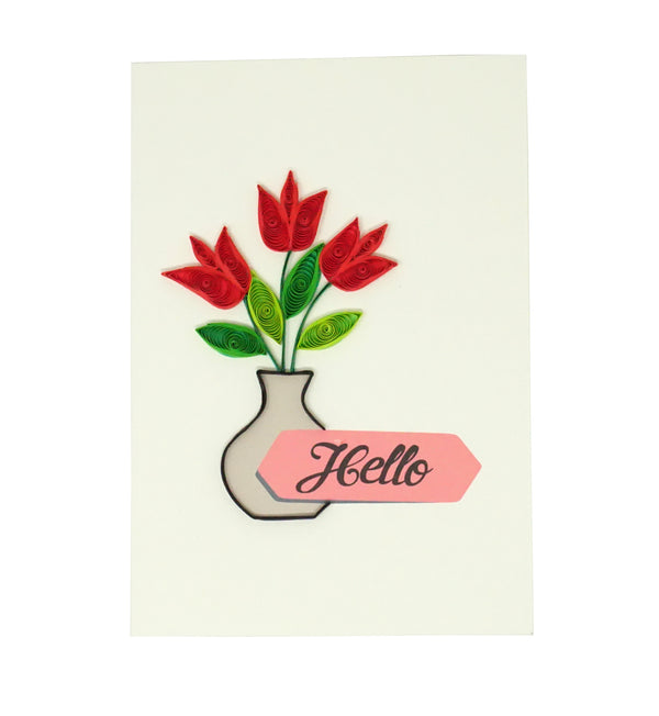 Tulip Flower Quilling Card