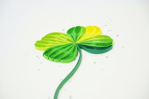 Four-leaf Clover Flower Quilling Card