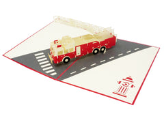 Firetruck - WOW 3D Pop Up Greeting Card