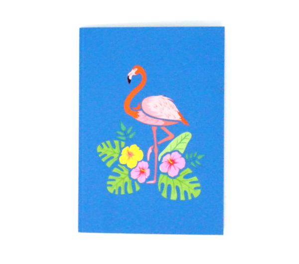 Flamingo - WOW 3D Color Pop Up Card