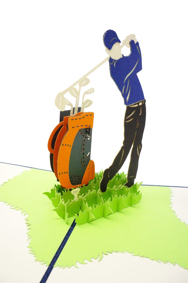 Golf Player - WOW 3D Pop Up Greeting Card