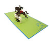 Horse Jumping Equestrian - WOW 3D Pop Up Greeting Card