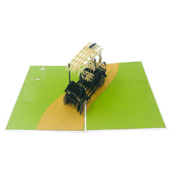 Wow Golf Cart - 3D Pop Up Greeting Card