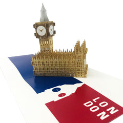 London Big Ben Tower - WOW 3D Pop Up Card
