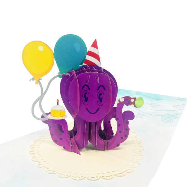 Birthday Octopus - WOW 3D Birthday Card