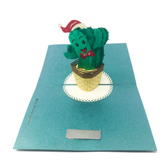 Happy Cactus - Christmas Pop Up Card