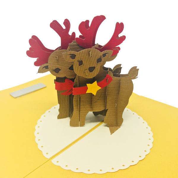 Reindeers - Christmas Pop Up Card