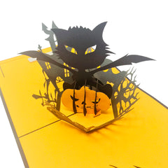 Halloween Evil Cat - WOW Pop Up Card