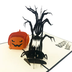 Halloween Pumpkin Spooky Tree - Pop Up Card