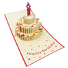 Wow Birthday Cake Candle - 3D Pop Up Greeting Card