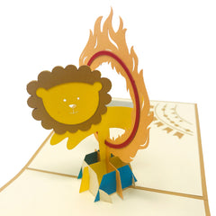 Circus Lion - 3D Pop Up Greeting Card