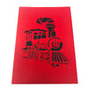 Classic Steam Train - 3D Pop Up Greeting Card
