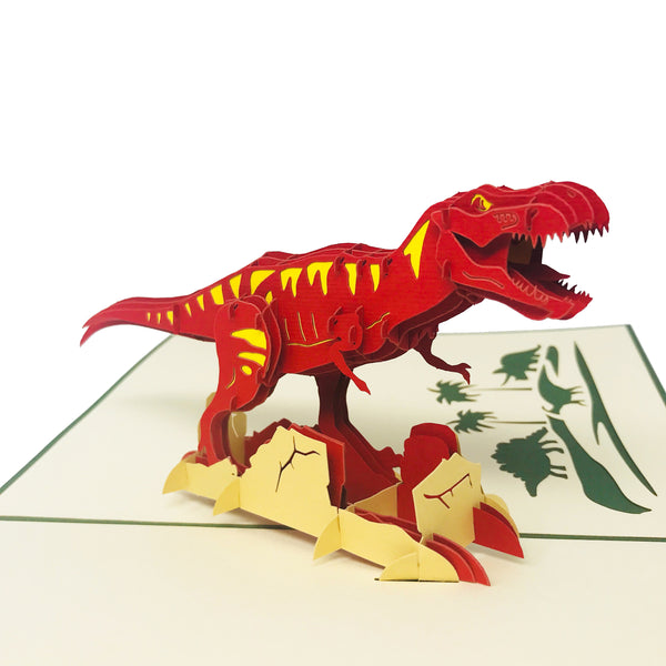 Wow T-Rex Dinosaur - 3D Pop Up Greeting Card