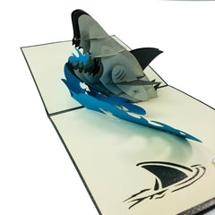 Angry Shark - WOW 3D Pop Up Card