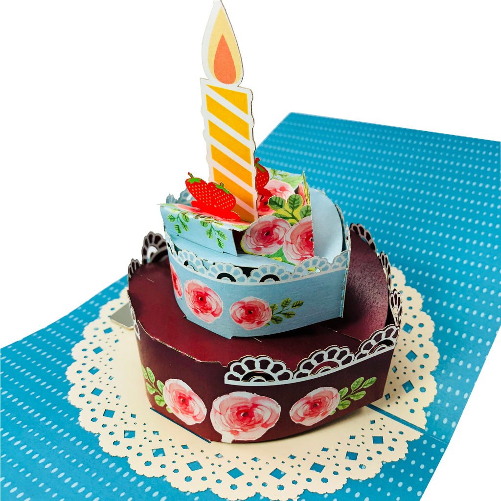 Birthday Cake Wow 3d Pop Up Card Wow Pop Up Card
