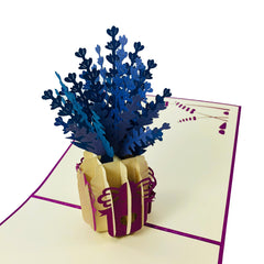 Lavender Flower Vase - WOW 3D Pop Up Card
